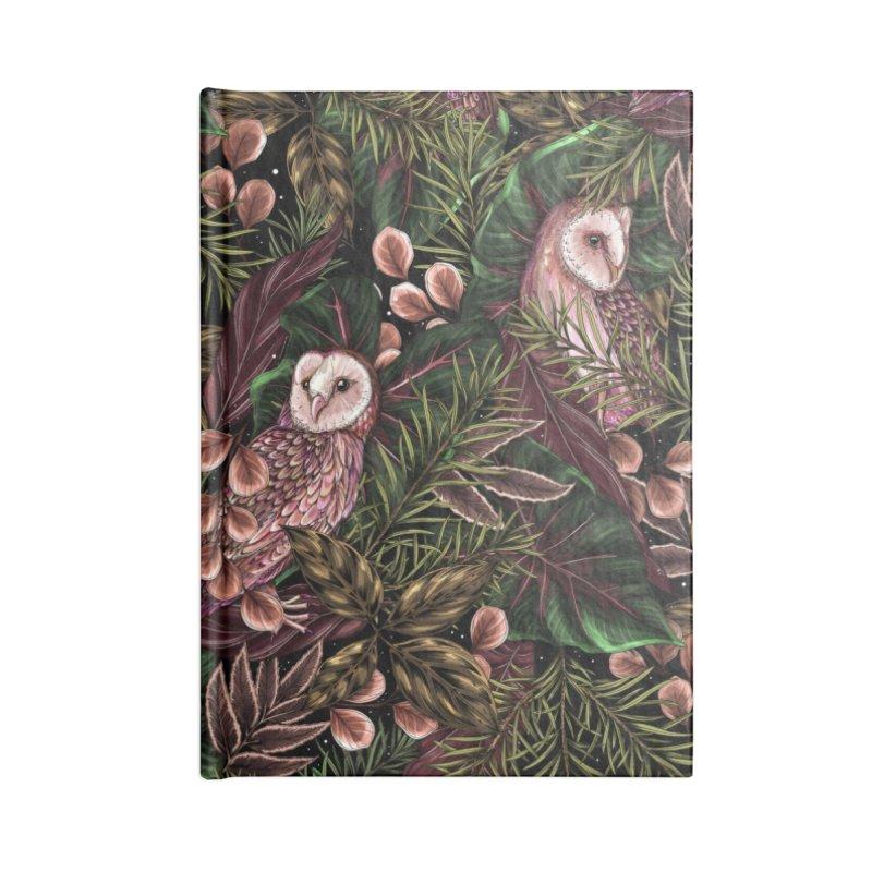 Owl Botanica Accessories Notebook by littlepatterns by Maggie Enterrios