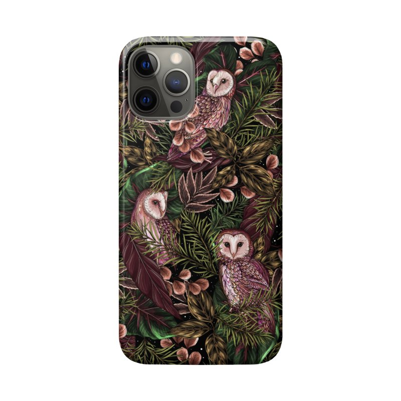 Owl Botanica Accessories Phone Case by littlepatterns by Maggie Enterrios
