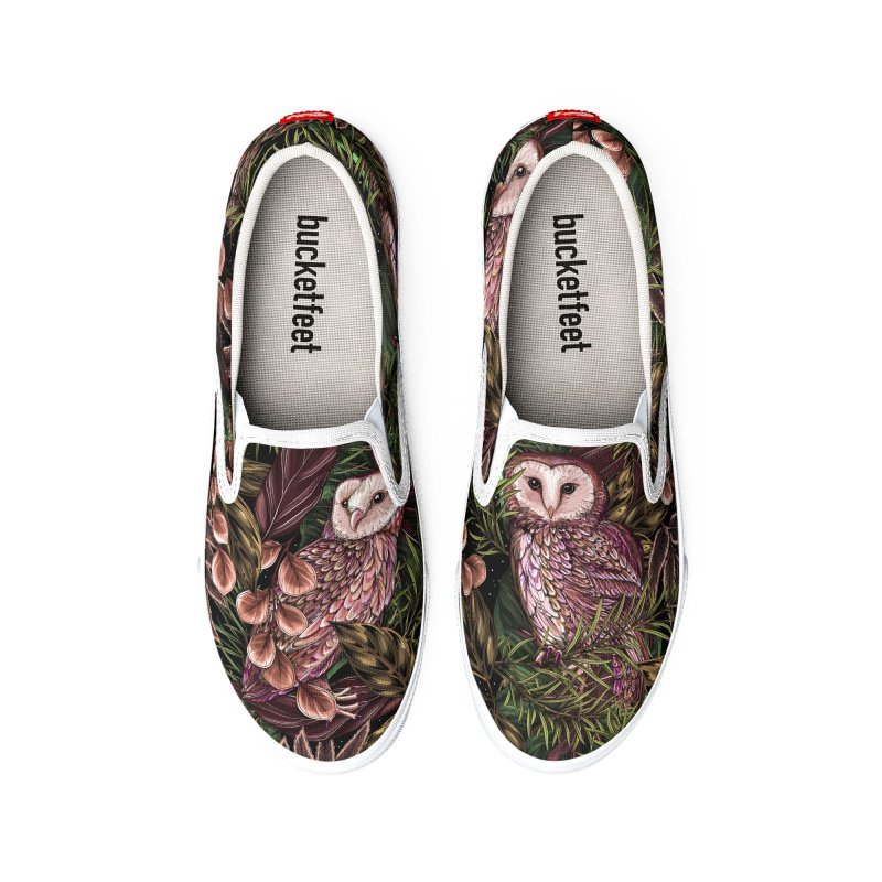 Owl Botanica Men's Shoes by littlepatterns by Maggie Enterrios