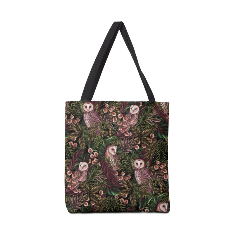 Owl Botanica Accessories Bag by littlepatterns by Maggie Enterrios