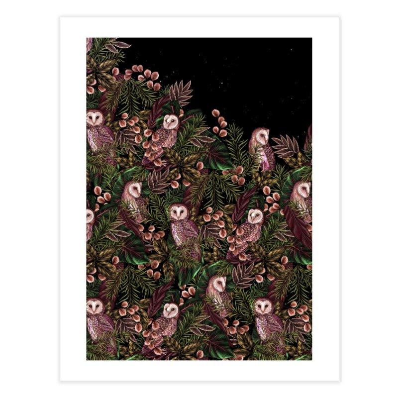Owl Botanica Home Fine Art Print by littlepatterns by Maggie Enterrios