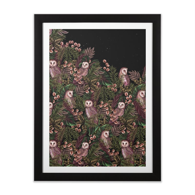 Owl Botanica Home Framed Fine Art Print by littlepatterns by Maggie Enterrios