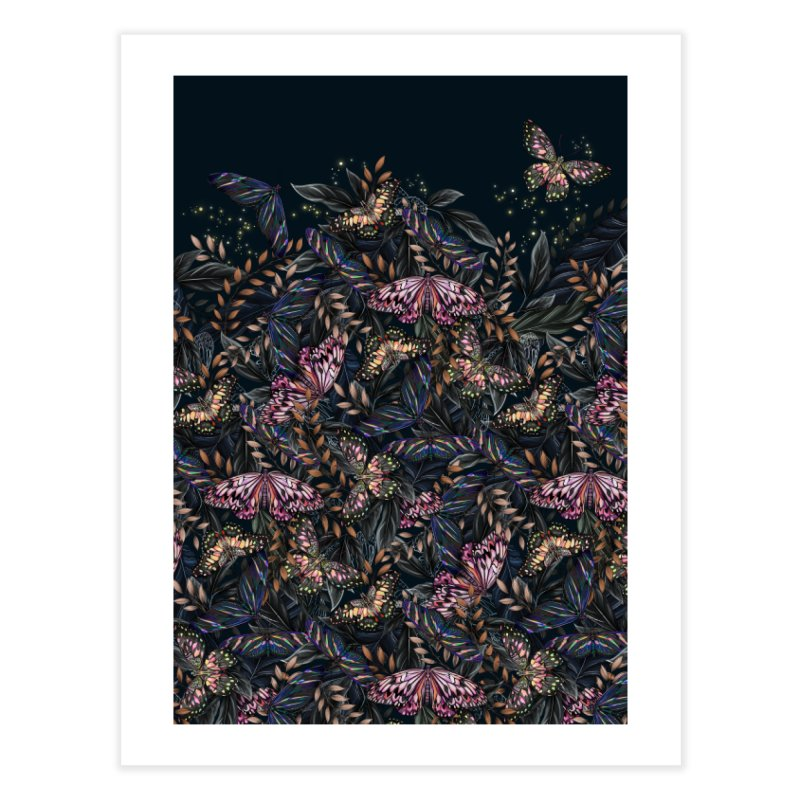 Butterfly by Night Home Fine Art Print by littlepatterns by Maggie Enterrios