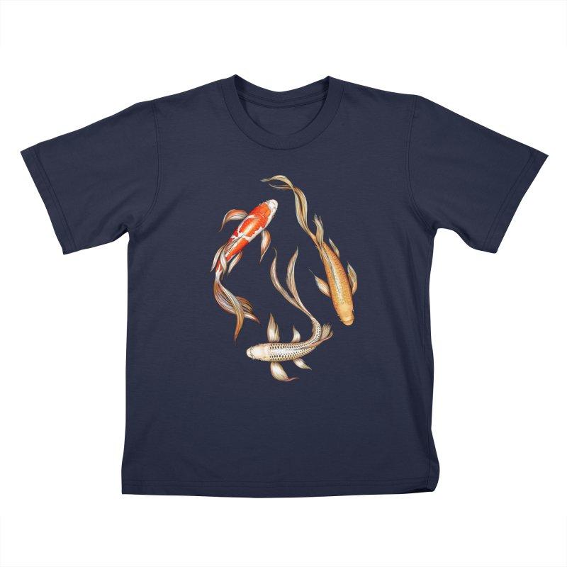 Koi Pond Kids T-Shirt by littlepatterns by Maggie Enterrios