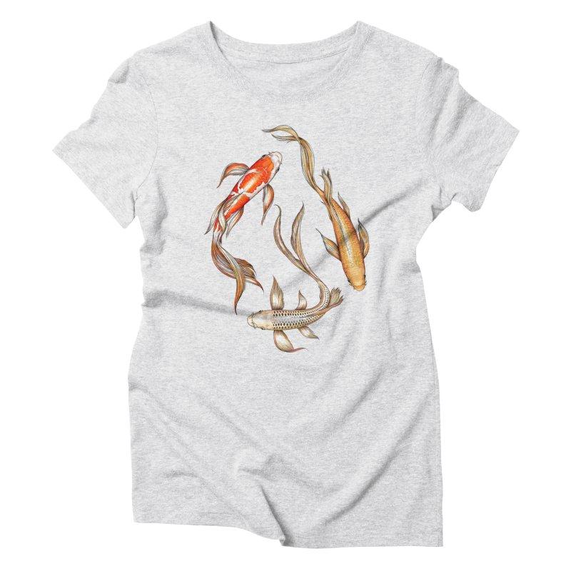 Koi Pond Women's T-Shirt by littlepatterns by Maggie Enterrios