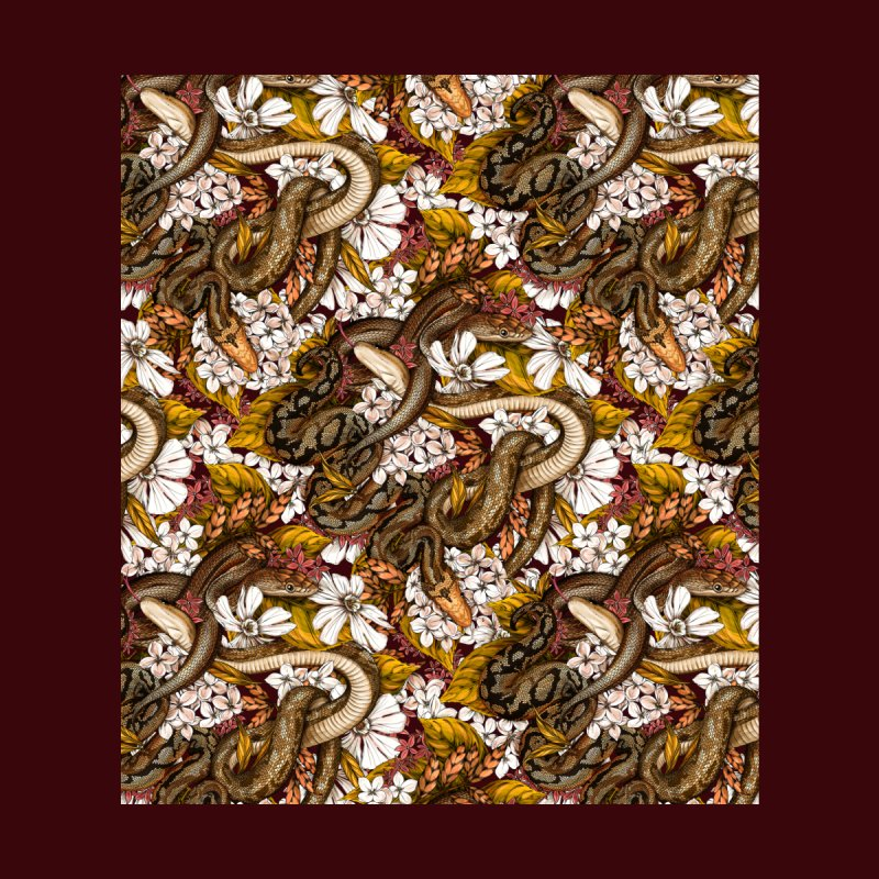 Parseltongue Gold Home Tapestry by littlepatterns by Maggie Enterrios