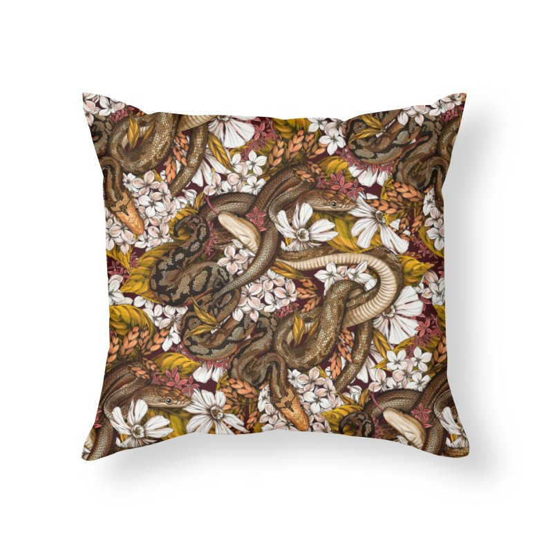 Parseltongue Gold Home Throw Pillow by littlepatterns by Maggie Enterrios