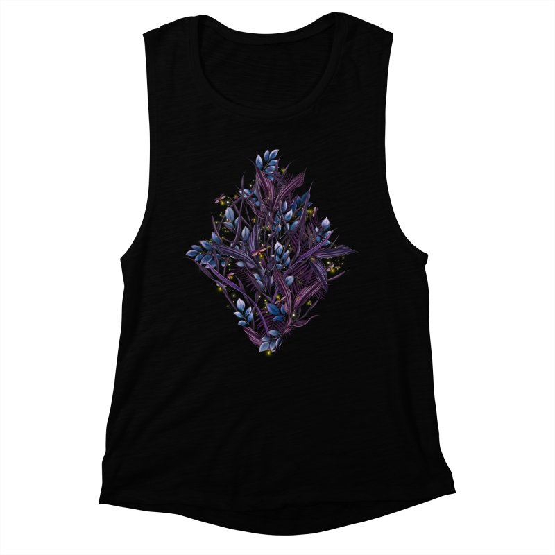 Firefly | Lightning Bugs Women's Tank by littlepatterns by Maggie Enterrios