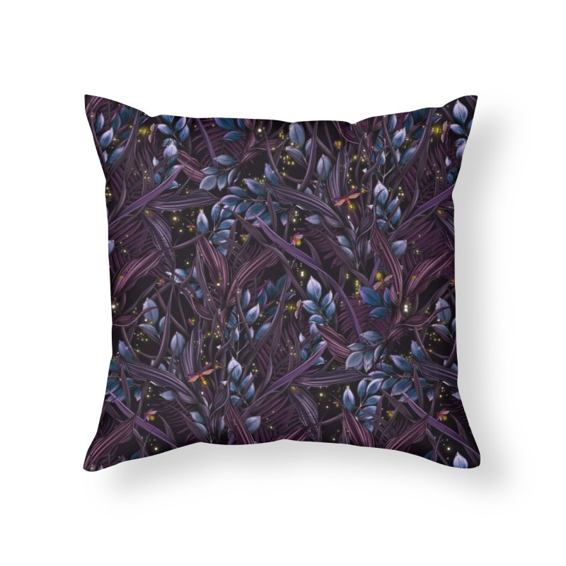 Firefly   Lightning Bugs Home Throw Pillow by littlepatterns by Maggie Enterrios