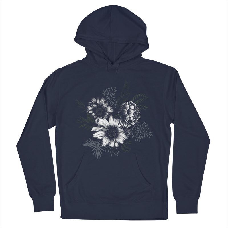 Classic Floral Women's French Terry Pullover Hoody by littlepatterns by Maggie Enterrios