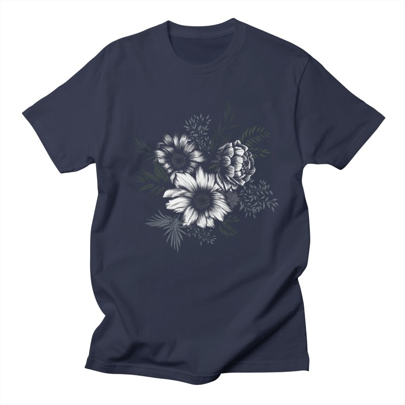 Classic Floral Men's Regular T-Shirt by littlepatterns by Maggie Enterrios