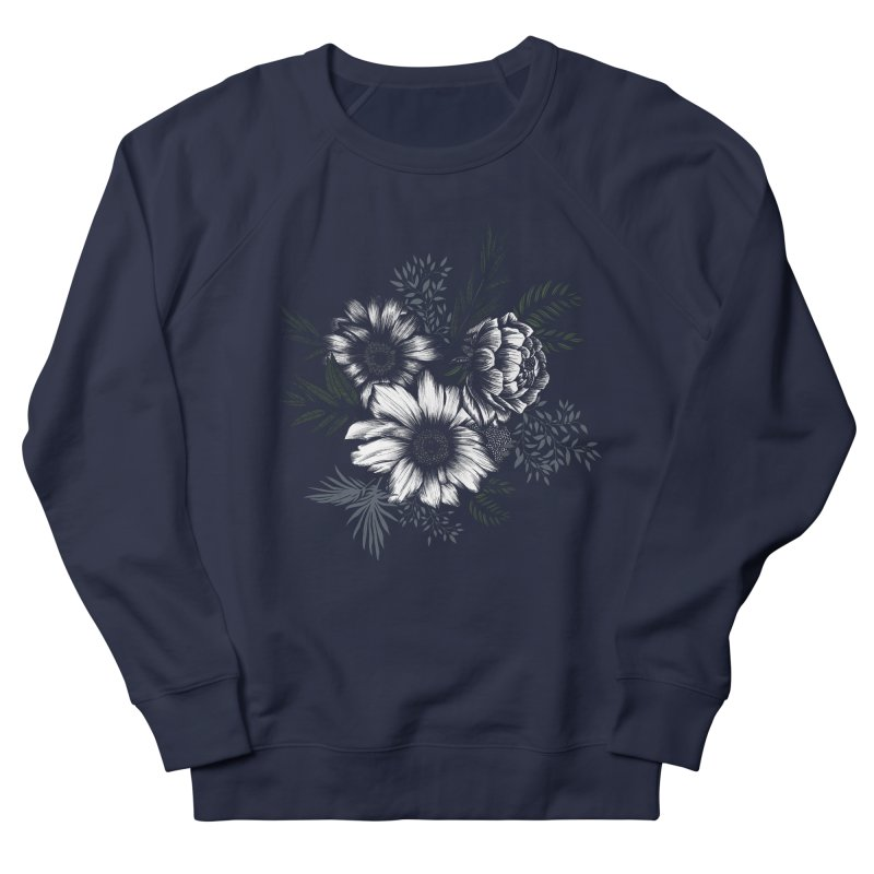 Classic Floral Women's French Terry Sweatshirt by littlepatterns by Maggie Enterrios