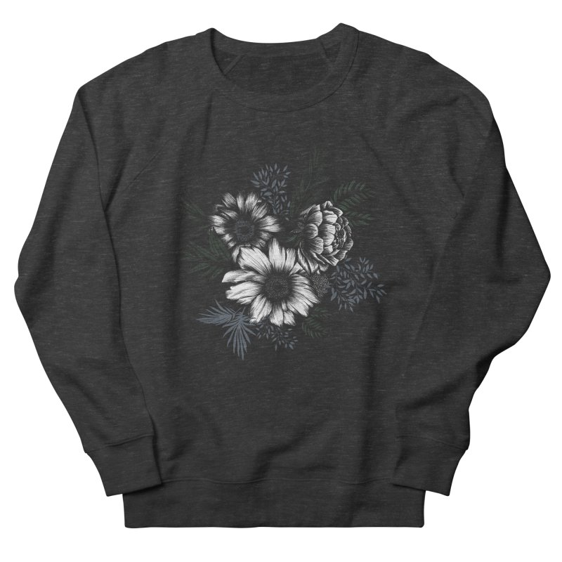 Classic Floral Men's French Terry Sweatshirt by littlepatterns by Maggie Enterrios