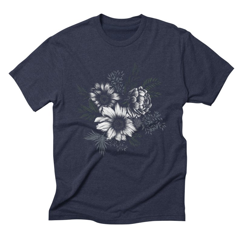 Classic Floral Men's Triblend T-Shirt by littlepatterns by Maggie Enterrios