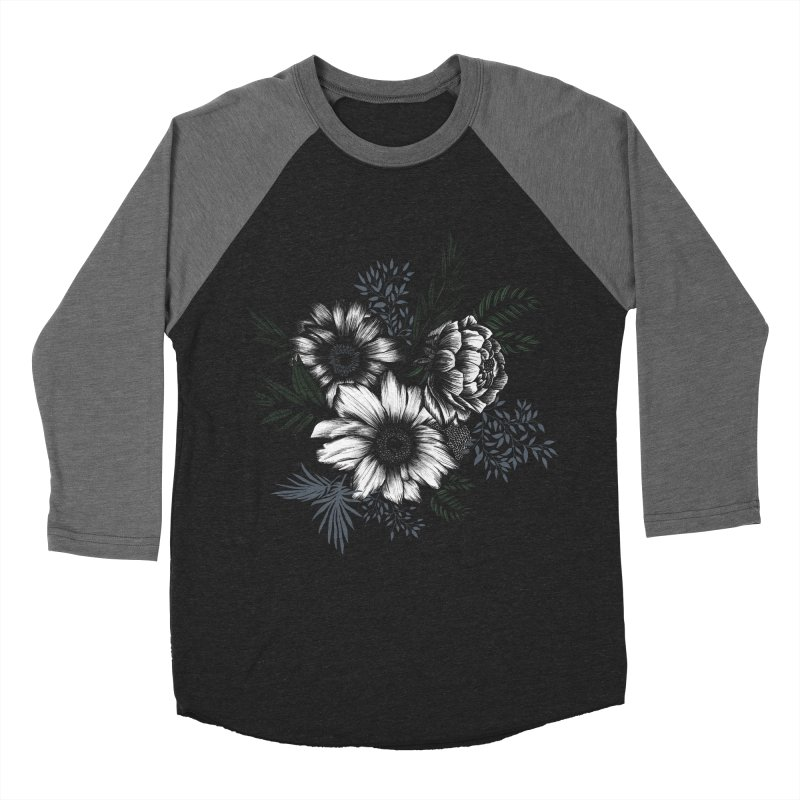 Classic Floral Men's Baseball Triblend Longsleeve T-Shirt by littlepatterns by Maggie Enterrios