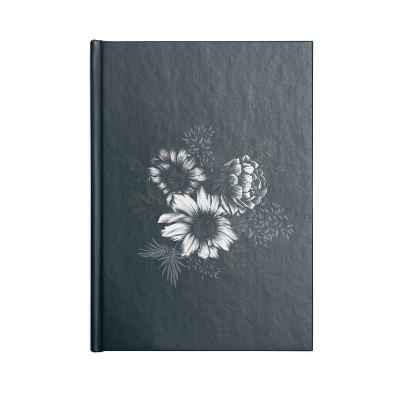 Classic Floral Accessories Notebook by littlepatterns by Maggie Enterrios