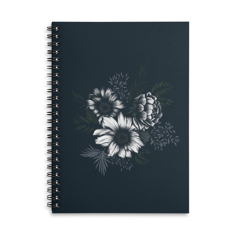 Classic Floral Accessories Lined Spiral Notebook by littlepatterns by Maggie Enterrios