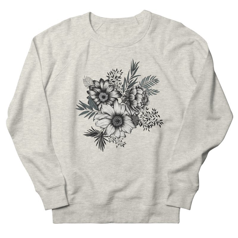 Classic Floral (light) Women's French Terry Sweatshirt by littlepatterns by Maggie Enterrios
