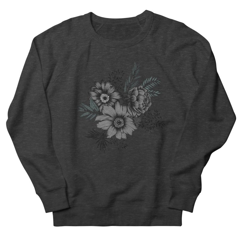 Classic Floral (light) Men's French Terry Sweatshirt by littlepatterns by Maggie Enterrios