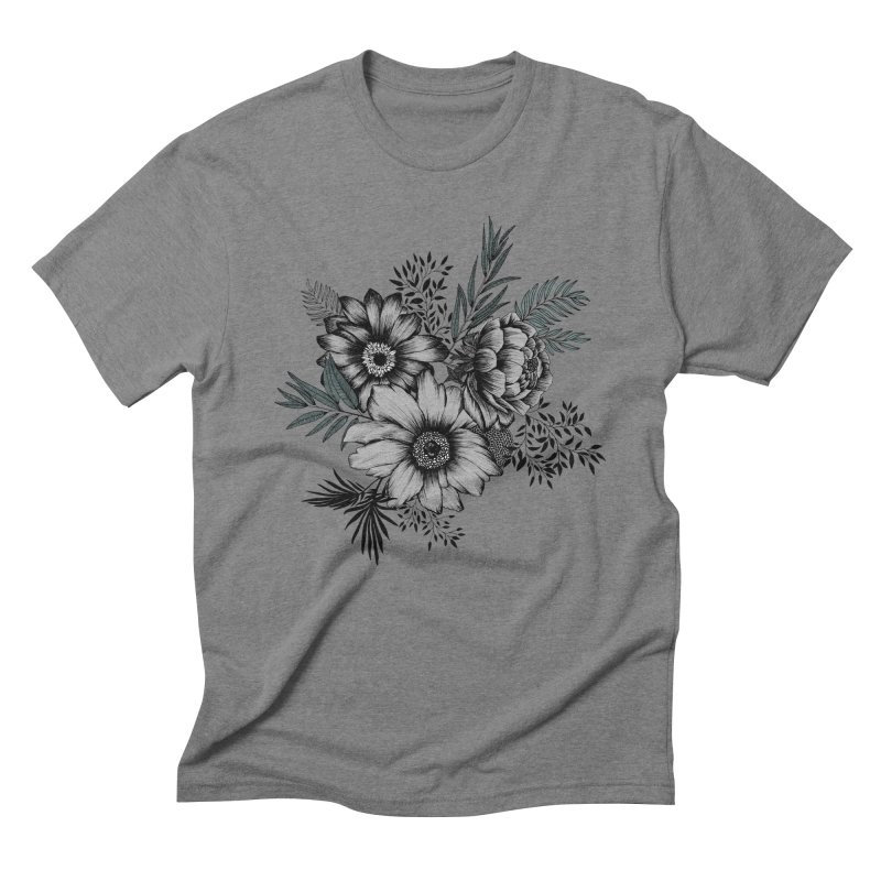 Classic Floral (light) Men's Triblend T-Shirt by littlepatterns by Maggie Enterrios