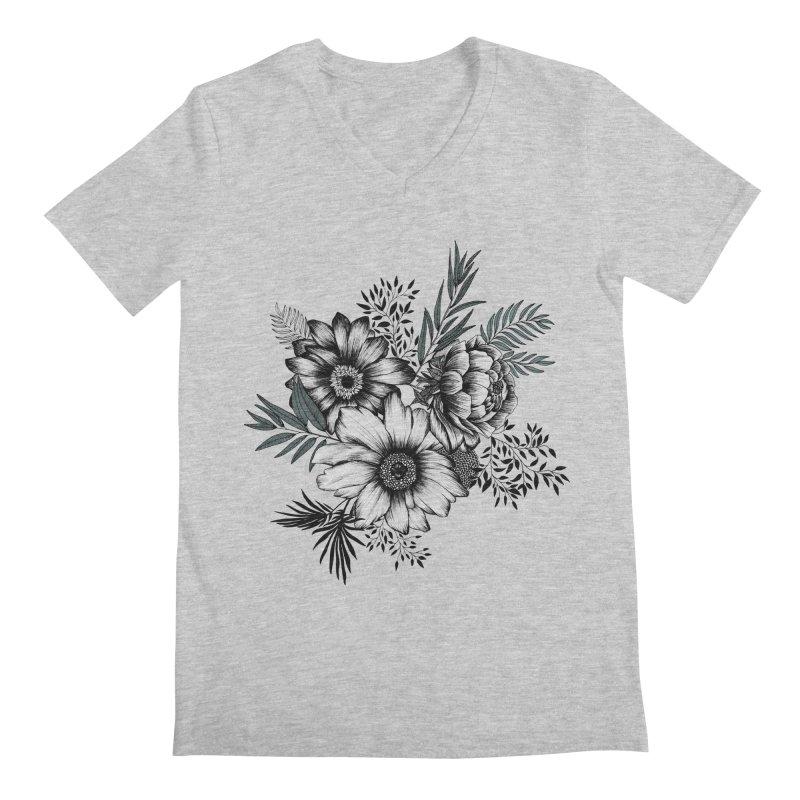 Classic Floral (light) Men's Regular V-Neck by littlepatterns by Maggie Enterrios