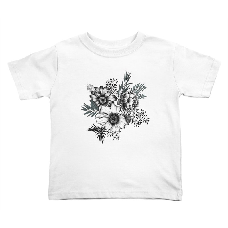 Classic Floral (light) Kids Toddler T-Shirt by littlepatterns by Maggie Enterrios