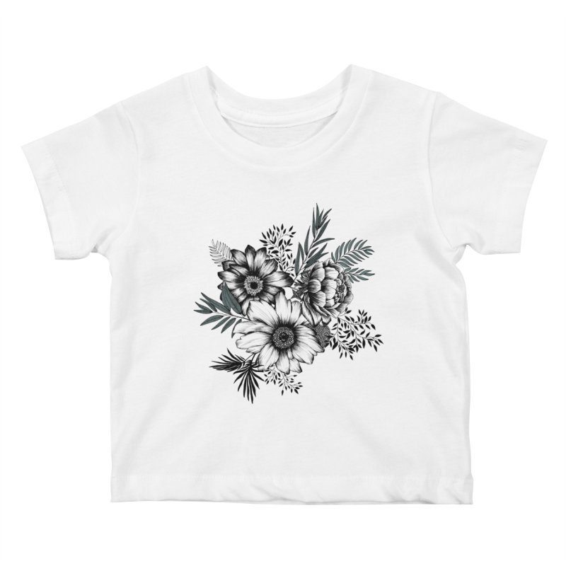 Classic Floral (light) Kids Baby T-Shirt by littlepatterns by Maggie Enterrios