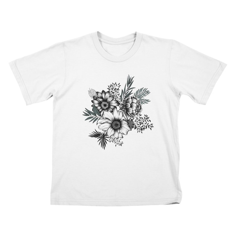 Classic Floral (light) Kids T-Shirt by littlepatterns by Maggie Enterrios