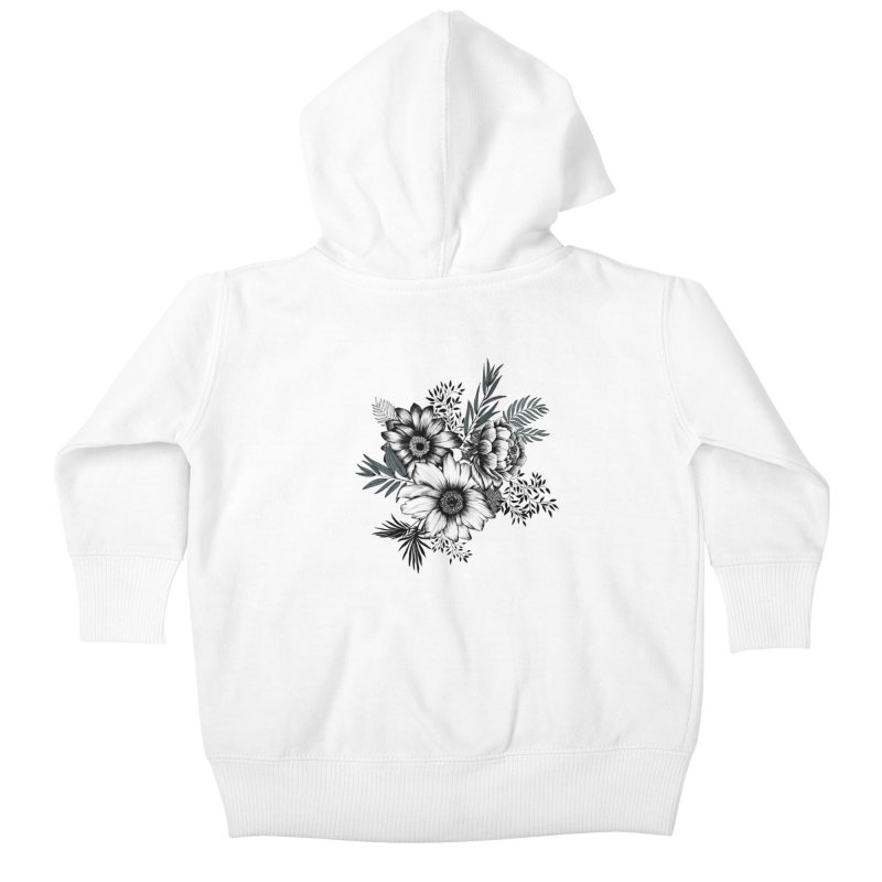 Classic Floral (light) Kids Baby Zip-Up Hoody by littlepatterns by Maggie Enterrios