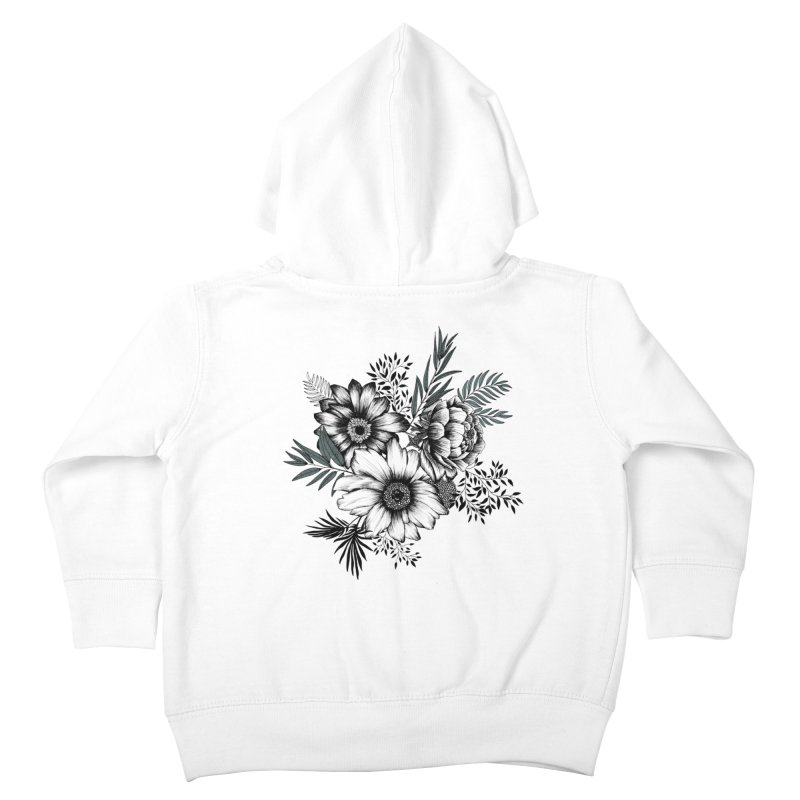 Classic Floral (light) Kids Toddler Zip-Up Hoody by littlepatterns by Maggie Enterrios