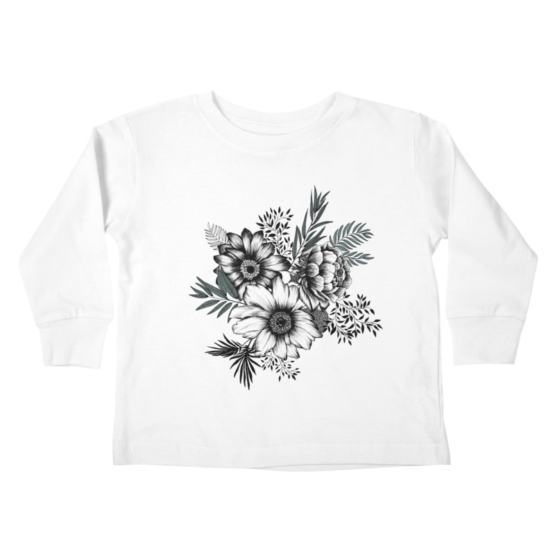Classic Floral (light) Kids Toddler Longsleeve T-Shirt by littlepatterns by Maggie Enterrios