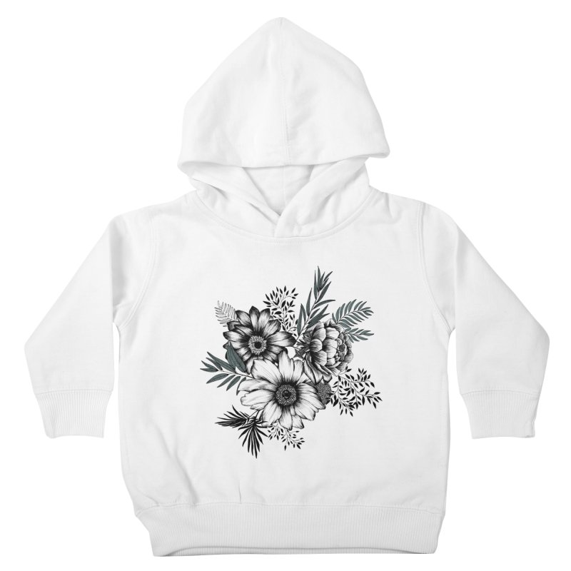 Classic Floral (light) Kids Toddler Pullover Hoody by littlepatterns by Maggie Enterrios