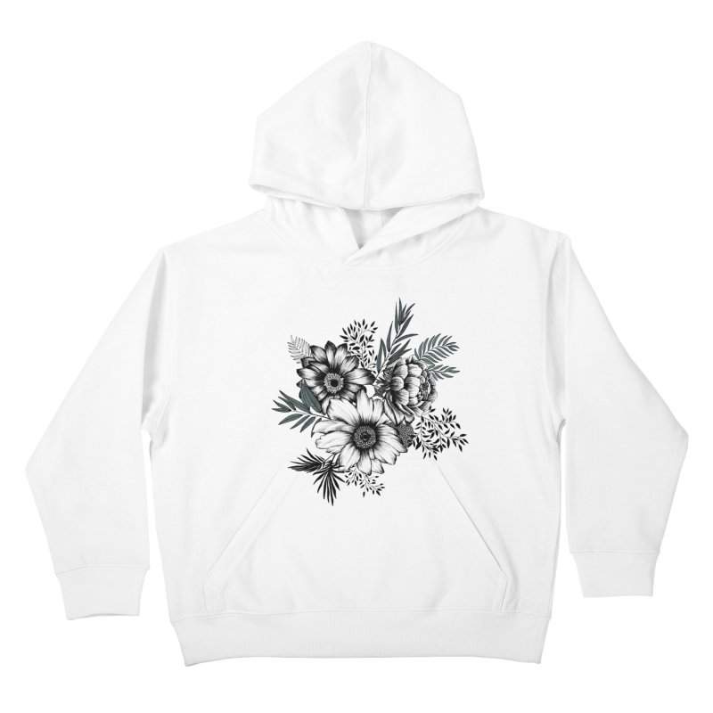 Classic Floral (light) Kids Pullover Hoody by littlepatterns by Maggie Enterrios