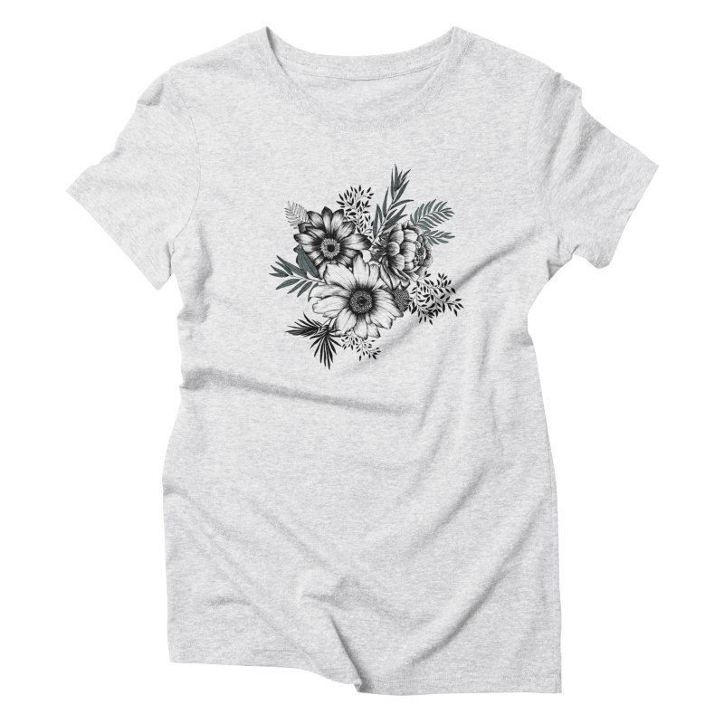Classic Floral (light) Women's T-Shirt by littlepatterns by Maggie Enterrios