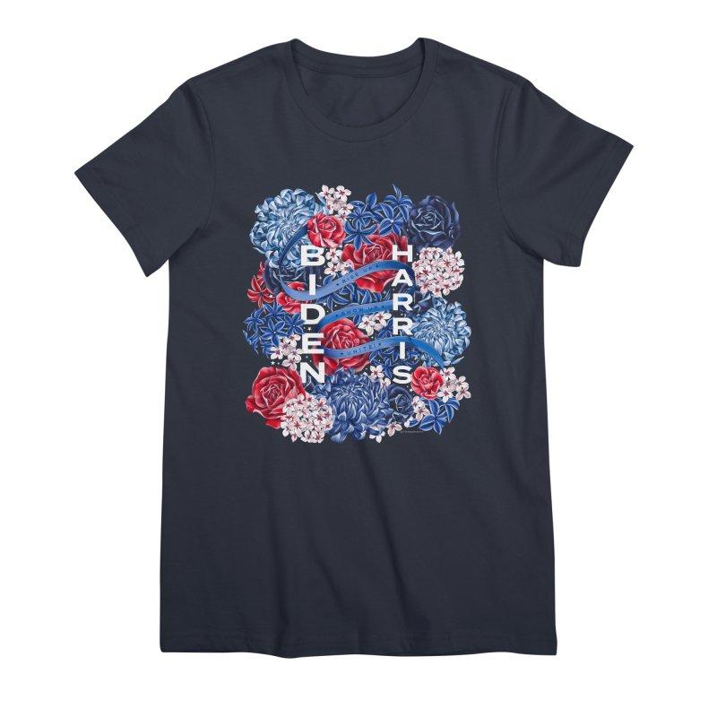 Rise Up. Show Up. Unite! Biden-Harris Women's T-Shirt by littlepatterns by Maggie Enterrios