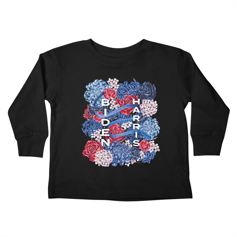 Rise Up. Show Up. Unite! Biden-Harris Kids Toddler Longsleeve T-Shirt by littlepatterns by Maggie Enterrios