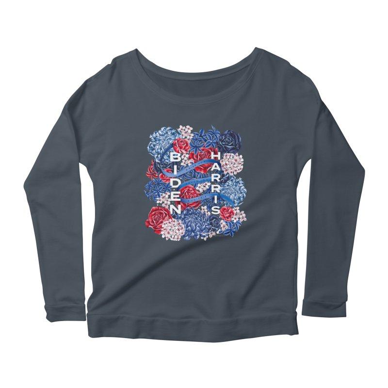 Rise Up. Show Up. Unite! Biden-Harris Women's Longsleeve T-Shirt by littlepatterns by Maggie Enterrios