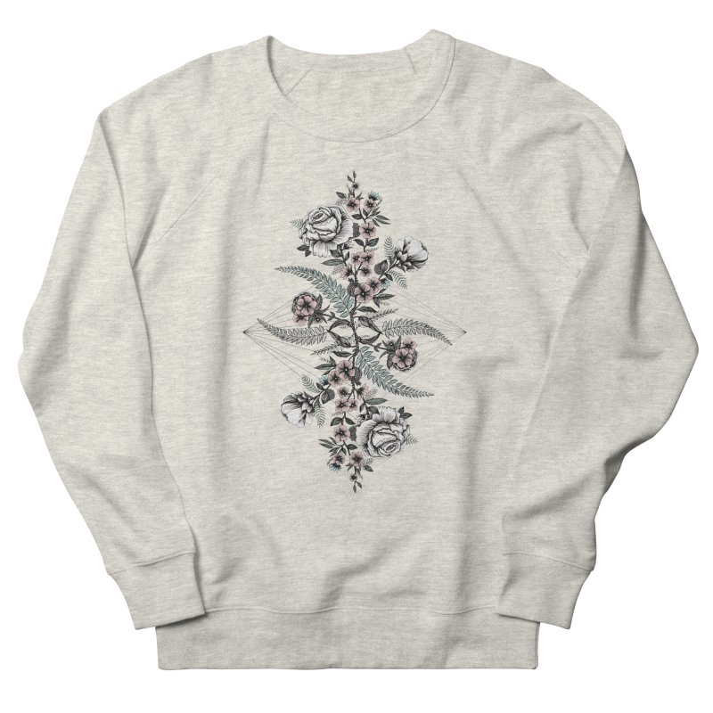Reflection (light) Women's French Terry Sweatshirt by littlepatterns by Maggie Enterrios