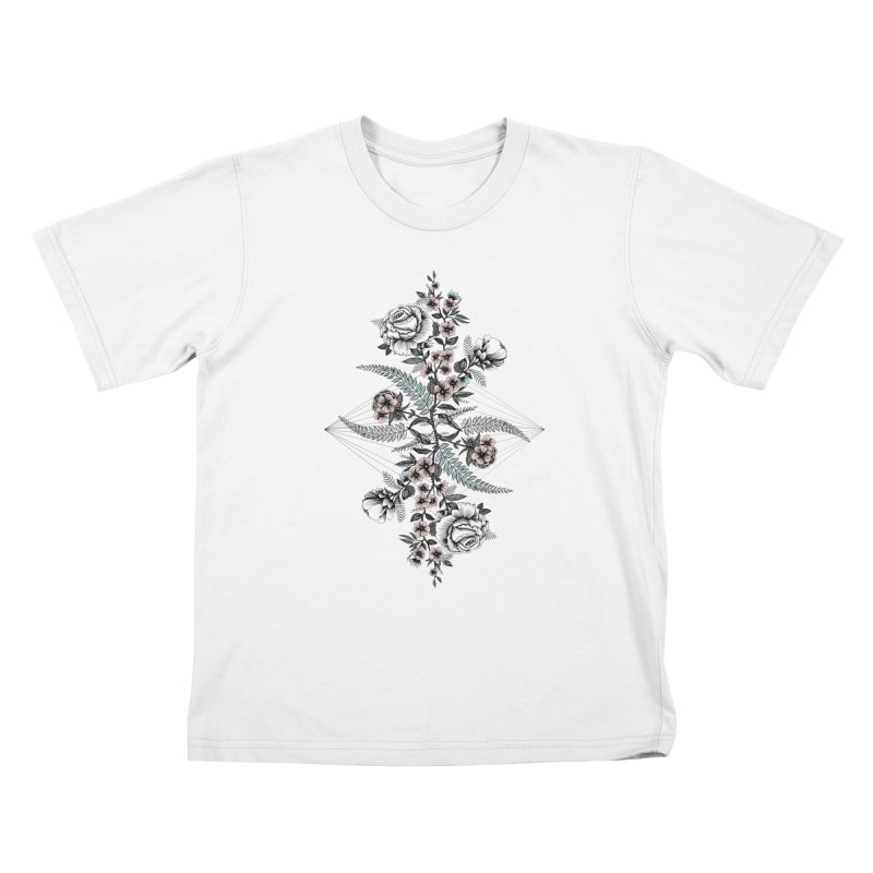 Reflection (light) Kids T-Shirt by littlepatterns by Maggie Enterrios