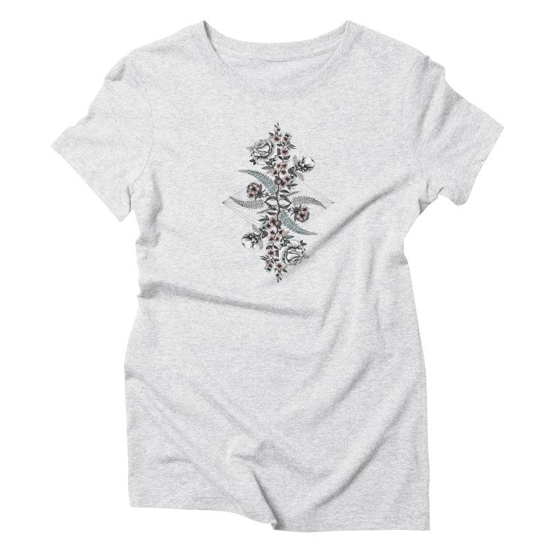 Reflection (light) Women's T-Shirt by littlepatterns by Maggie Enterrios