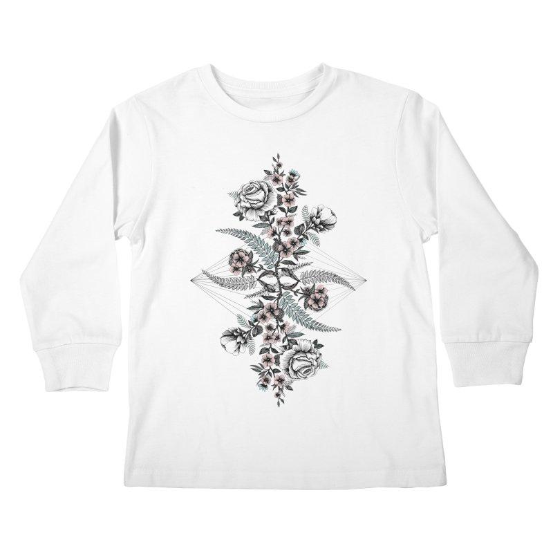 Reflection (light) Kids Longsleeve T-Shirt by littlepatterns by Maggie Enterrios