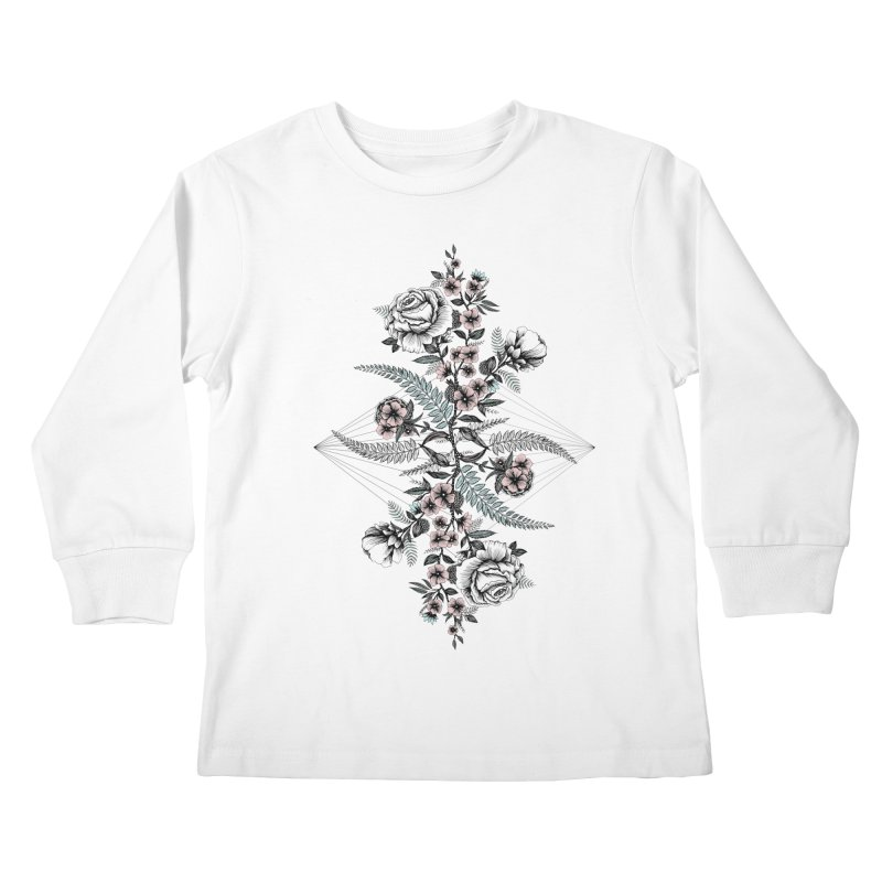 Reflection (light) Kids Longsleeve T-Shirt by littlepatterns by Maggie Enterrios