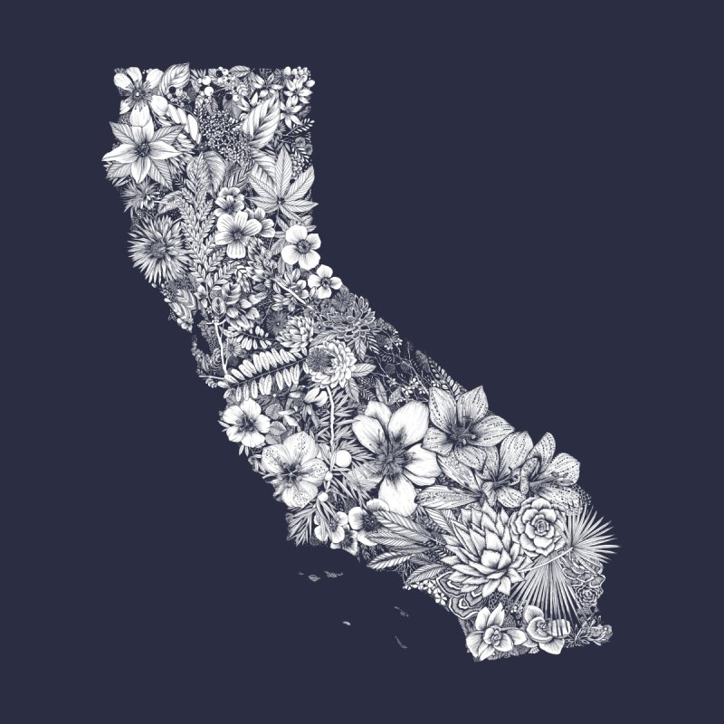 California Native Men's T-Shirt by littlepatterns by Maggie Enterrios