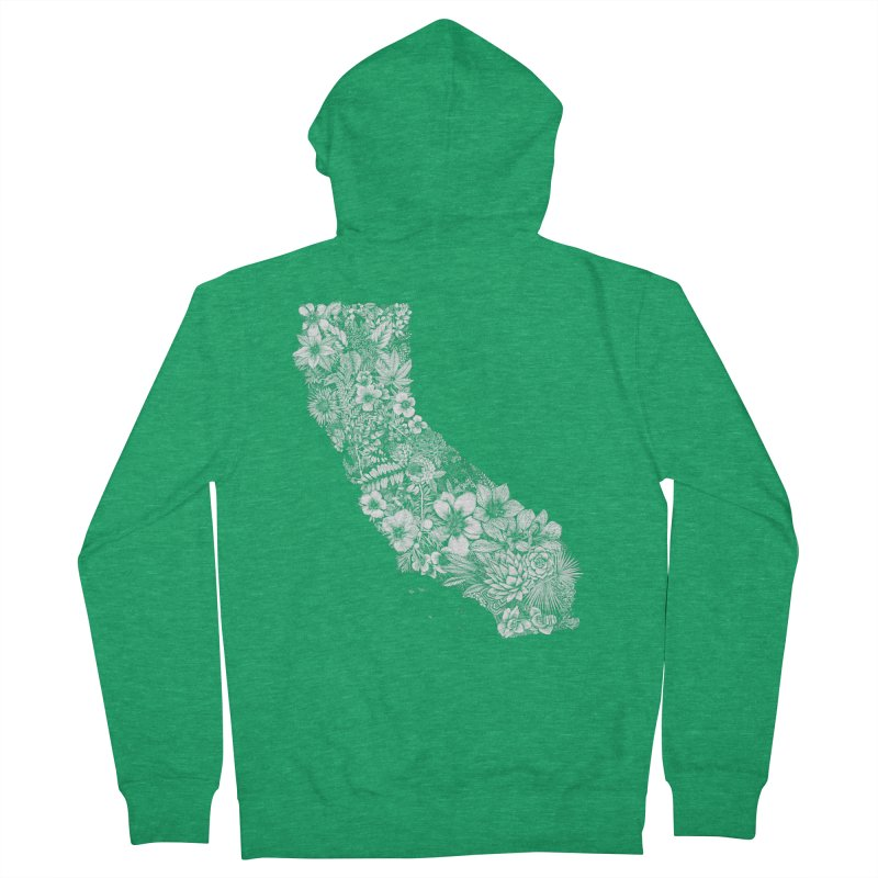 California Native Men's Zip-Up Hoody by littlepatterns by Maggie Enterrios