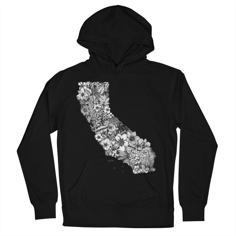 California Native Women's French Terry Pullover Hoody by littlepatterns by Maggie Enterrios