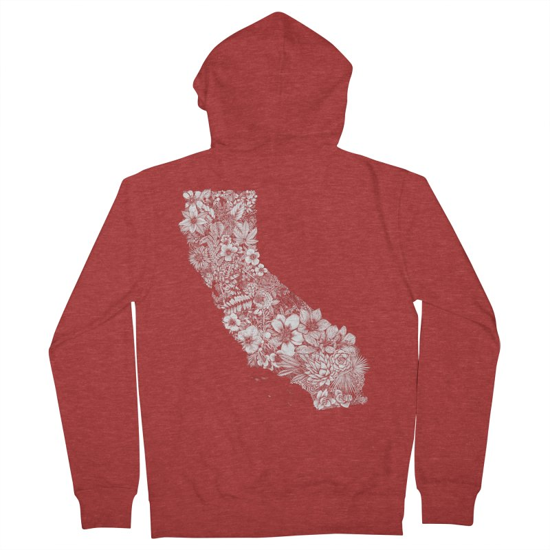 California Native Women's French Terry Zip-Up Hoody by littlepatterns by Maggie Enterrios