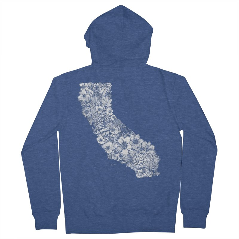 California Native Men's French Terry Zip-Up Hoody by littlepatterns by Maggie Enterrios