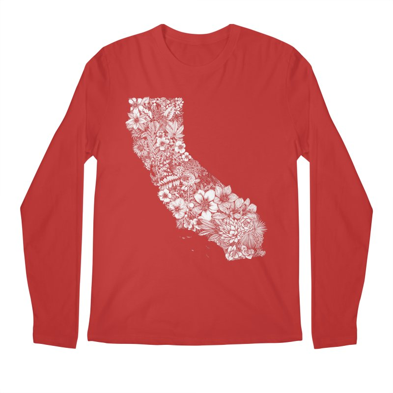 California Native Men's Regular Longsleeve T-Shirt by littlepatterns by Maggie Enterrios