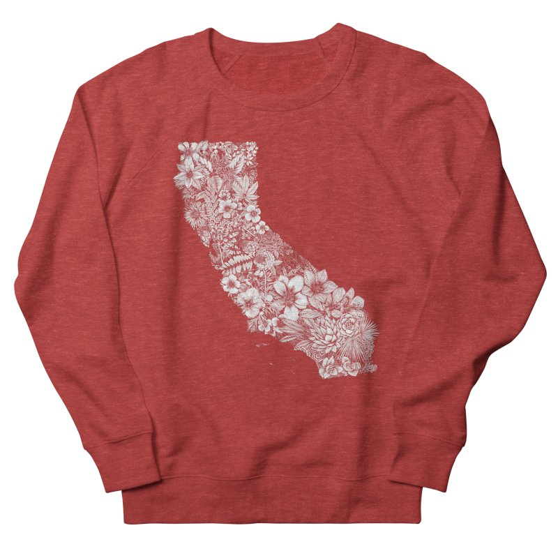 California Native Men's French Terry Sweatshirt by littlepatterns by Maggie Enterrios