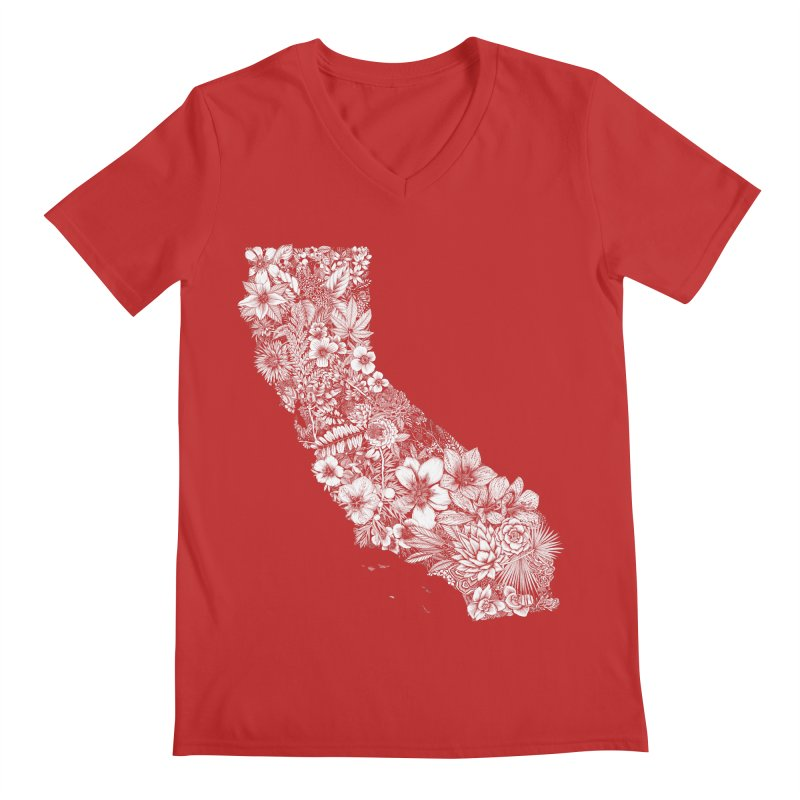 California Native Men's Regular V-Neck by littlepatterns by Maggie Enterrios